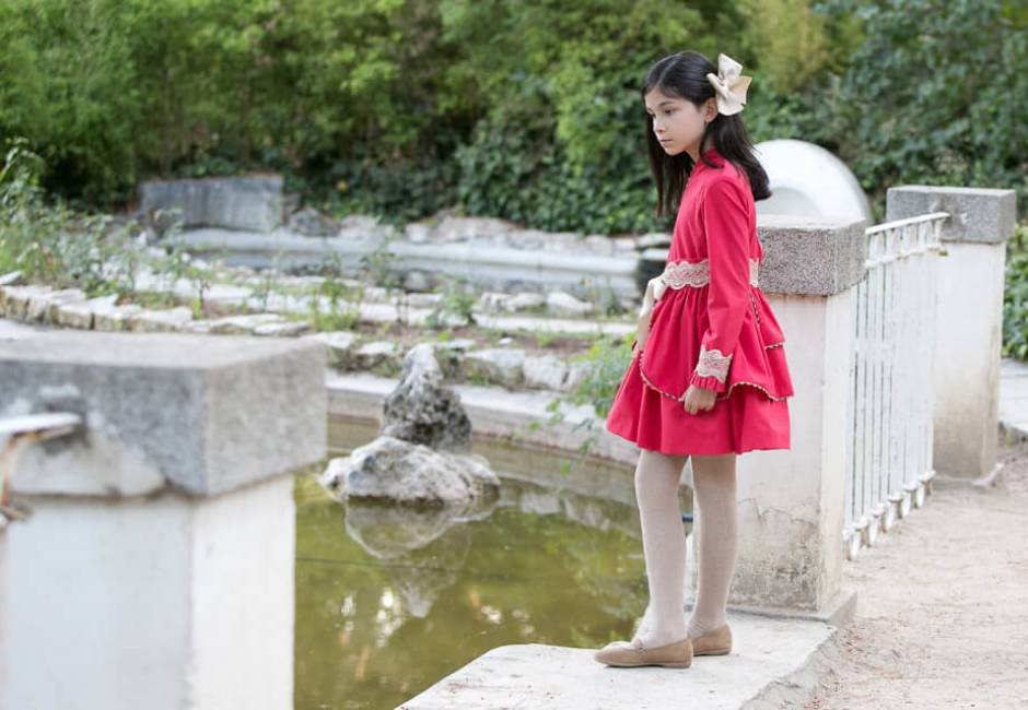 Vestido niña rojo de Nekenia | Aiana Larocca