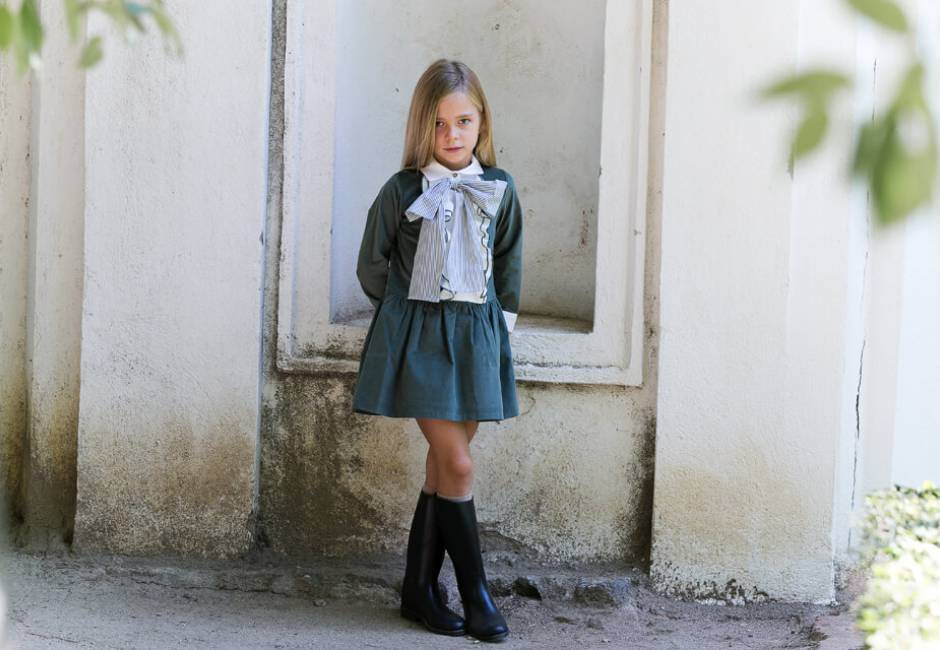 Vestido verde cuello camisero de Rochy | Aiana Larocca